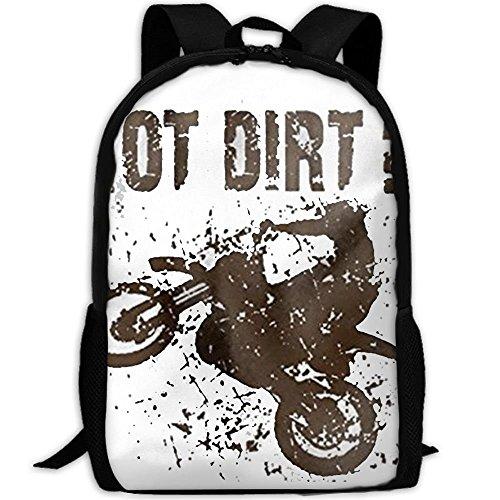 CYMO Got Dirt Bike Motorcross Racing Unique Casual Backpack School Bag Travel Daypack Gift