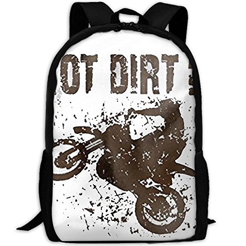 CYMO Got Dirt Bike Motorcross Racing Unique Casual Backpack School Bag Travel Daypack Gift