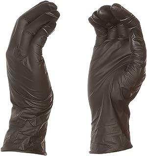AmazonBasics Powder Free Disposable Nitrile Gloves, 6 mil, Black, Size M, 100 per Pack, 1-Pack
