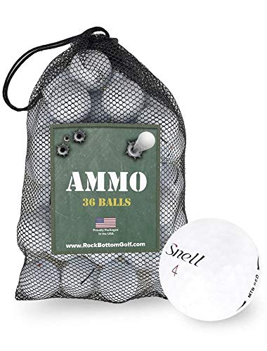Snell MTB Mix Near Mint Used Recycled Golf Balls 36-Ball Ammo Bag White