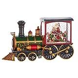 Raz Imports Holiday Water Lanterns 12.25' Santa'S List Musical Lighted Water Train - Premium Christmas Holiday Home Decor