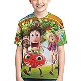 Cl-Oud-Y W-Ith A Joyful Cha-Nce O-F Me-ATB-Alls 2 T Shirt Kids Youth 3D Print Short Sleeve for Boys Girls,Black,X-Small