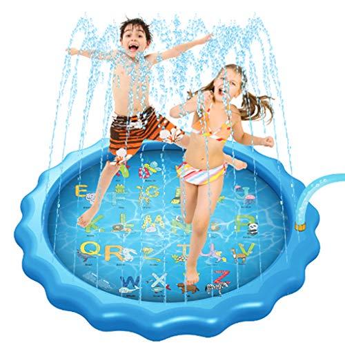 Sprinklerzwembad Voor Kinderen, Splash Pad Waadbad Om Te Leren, van A Tot Z' Buitenzwembad Voor Baby's Peuters Zomer Buitenspeelgoed