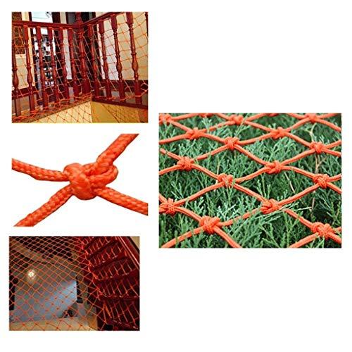 Nylon Isolatie portemonnee Seine Oranje indoor trapleuning netto constructie bescherming netto balkon anti-val netto outdoor camping, klimmen, hangmat (grootte: 1 * 9m) Site Veiligheid Bouw Netwerk