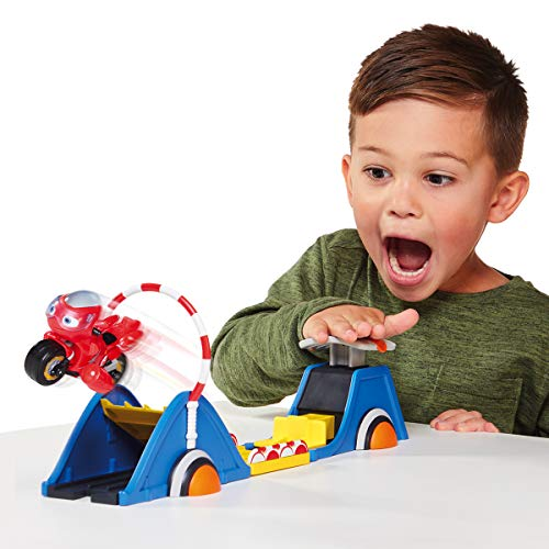 Ricky Zoom Speed & Stunt Playset Featuring Ricky with 2 Rescue Accessories - Free-Wheeling, Free Standing Toy Bike and Stunt Playset for Preschool Play