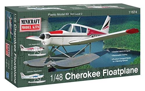 Minicraft Models Dempsey Designs Morceau modèles 1 : 48 Kit Échelle modèle Piper Cherokee hydravion à flotteurs