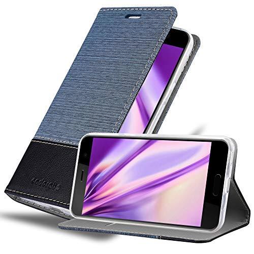 Cadorabo Hülle für HTC U Play in DUNKEL BLAU SCHWARZ - Handyhülle mit Magnetverschluss, Standfunktion & Kartenfach - Hülle Cover Schutzhülle Etui Tasche Book Klapp Style