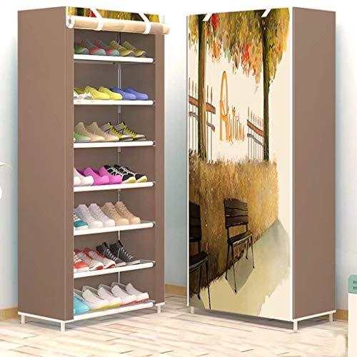 Accesorios de Material de Oficina Wghz Gabinete de Zapatos para Interior de 7 Niveles Gabinete de Zapatero Gabinete de Almacenamiento