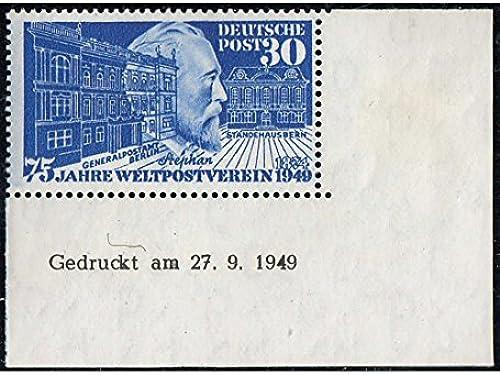 Goldhahn BRD Nr. 116 Br u postfrisch  Druckdatum 27.9.1949  Briefmarken für Sammler