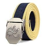 VITML Cinturón De Lona Unisex Cinturón De Hebilla Automática De Aleación para Hombre Lona De Moda Ho...