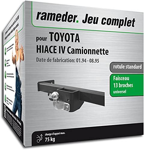 Rameder Pack, attelage rotule Standard 2 Trous + Faisceau 13 Broches Compatible avec Toyota HIACE IV Camionnette (162773-03386-1-FR).