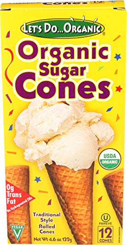 Lets Do Organics, Sugar Ice Cream Cone, Organic, 5 Ounce