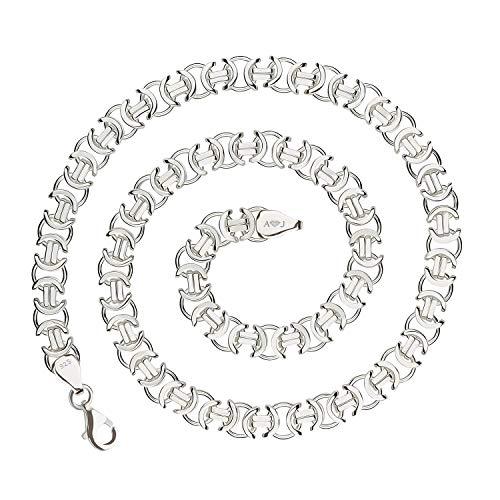 925 Silberkette: Königskette flach Silber 11mm 60cm - KKFL-110-60