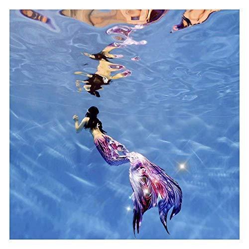 Coda da Sirena Bambina per Nuotare, Costume da Bagno Sirena Ragazza, Coda A Sirena più Bello per Nuotare, Adatto per Il Nuoto(Color:Style-D)