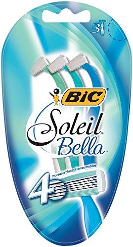BIC Soleil Bella Nassrasierer Set Frauen, 4 Klingen, Für empfindliche Haut, 6 Stück