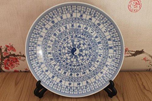 LH Antiquités Antiques Et Les Dynasties Ming Et Qing Porcelaine Bleu Et Blanc Porcelaine Potins Plaque D'Ameublement Porcelaine Ornements,A