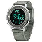 Digital Watches, shifenmei Digital Sports Watch Daily Alarm Hourly Chime Stopwatch 12/24H Date EL Backlight Military Outdoor Waterproof Multifunction Mens Sports Digital Watch for Men Women kid (Gray)