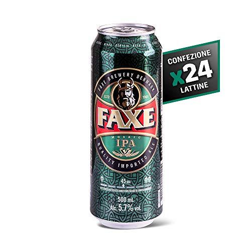 Faxe Ipa - Birra Ambrata - IPA Specialità ad Alta Fermentazione - Cartone 24 Lattine da 50 cl