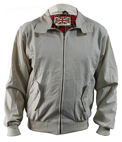 Skytex UK Harrington-Jacke Klassisch/Retro/Mod, in 10 Farben erhältlich, Größen XS-8XL Gr. Medium, beige