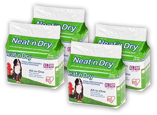 IRIS Neat 'n Dry Premium Pet Training Pads, Extra Large, 23.5