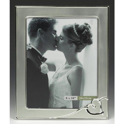 Grande cornice Wedding Photo con l'argento di disegno del cuore / cornice