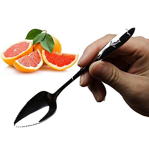 Grapefruit Lepel 17CM Lange Handvat RVS Zaagtand Lepels Keuken Gereedschap