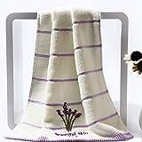 Siera 10PCS 100% algodón Fragancia Pareja Toalla Hotel Home Set Toallas de baño Bordadas Lavanda para Toalla Facial Absorbente, como Muestra la Imagen, 35x75cm