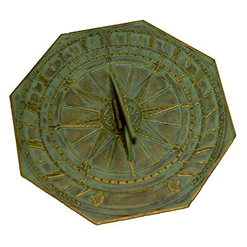 George Washington Sundial in Verdigris Bronze
