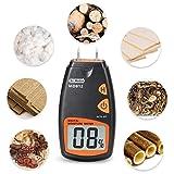 Medidor de humedad digital con 2 pines (sensor para las paredes, madera de...