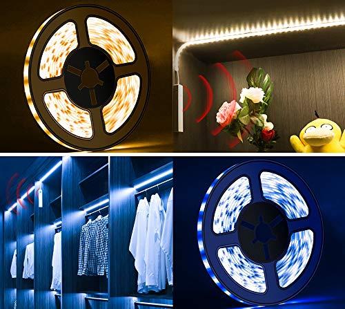 Optische bewegingssensor LED Strip Smart Turn ON/Off PIR Led Strip Licht Flexibele Lijm Lamp Tape voor Closet/trap/Slaapkamer