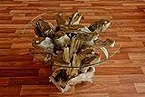 Wurzelholz Couchtisch Beistelltisch IKAL inklusive Glasplatte 80 cm | Tisch aus Wurzel fürs Wohnzimmer in Handarbeit gefertigt | Wurzelholztisch Massiv rund | Wurzeltisch von Möbel von ExotischerLeben - 6