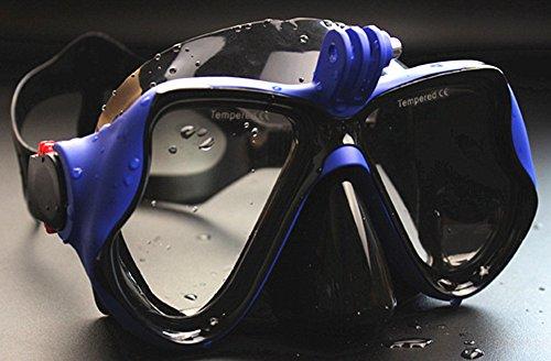 WOWDECOR Tauchmaske für Gopro Kamera Erwachsene Kinder mit Kurzsichtigkeit Kurzsichtig, Schnorchelmaske Taucherbrille Dioptrin Dioptrien Korrektur - Blau (-2,0)
