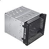 [page_title]-Miss-an 5.25'zu 5x 3.5' SATA SAS HDD Cage Rack Festplattengehäuse mit Lüfter Käfig-Gestell-hartes Fahrer-Behälter-Caddy Mit Ventilator-Raum
