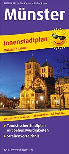 Münster: Touristischer Innenstadtplan mit Sehenswürdigkeiten und Straßenverzeichnis. 1:16000 (Stadtplan / SP)