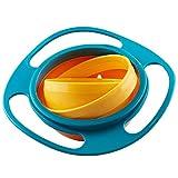 Jzhen Kinder Gyro Bowl, 360 Grad drehbare Gyroscopic Schale mit Deckel für Kleinkinder Baby Kinder