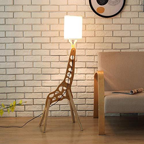 Jirafa, lámpara de pie, lámpara de pie blanca perfecta para dormitorio, sala de estar u oficina