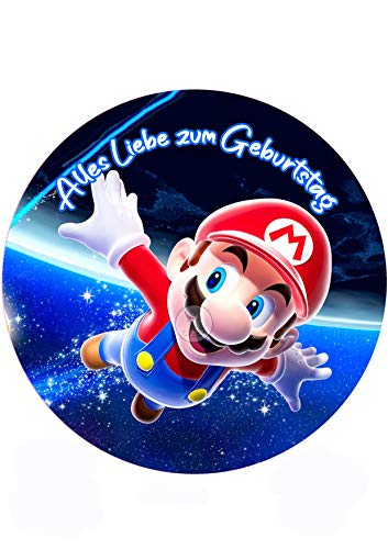 Super Mario, Essbares Tortenbild, Tortenaufleger Ø 20cm - 0231w