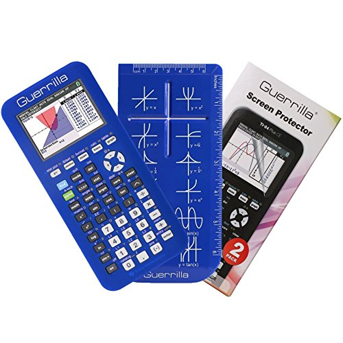 Guerrilla Silicone Case for Texas Instruments TI-84 Plus CE Color Edition Graphing Calculator With Screen protector and Graphing Ruler, Blue Photo #4