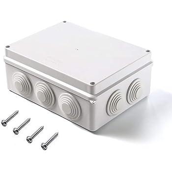 blanc 1Pcs, Gris BE-TOOL IP65 Bo/îte de d/érivation /étanche Bo/îtier Instrument Boitier Bo/îtier de Boitier /Électrique Bo/îte de Bricolage pour Projets Electroniques Unit/és Alimentation