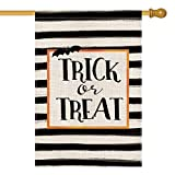 AVOIN Trick or Treat House Flag Vertical Double Sized, Halloween Yard Outdoor Decoration 28 x 40 Inch