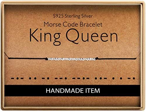 Birthday Gifts for Godmother Morse Code Godmothers Bracelet 925 Sterling Silver Handmade Bead Adjustable String Bracelets Inspirational Jewelry for Women