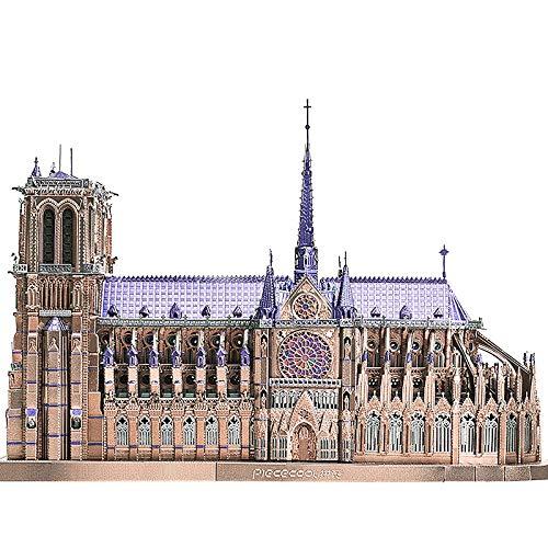 Piececool Notre Dame Cathedral Paris 3D Metal Model Kits DIY Assemble Puzzle Laser Cut Jigsaw Toy