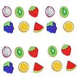 Gomme en forme de fruit Gommes colorées fantaisie Fruit forme gommes mignon pour la papeterie les cadeaux la salle de classe les récompenses pour les enfants les étudiants (couleurs mélangées)