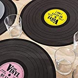 4 Pack Vinyl Record Placemat, Silicone, Multi-Colour