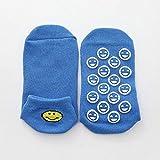 CHENC 5 Paare Smiley Socken Silikon-Anti-Rutsch-Trampolin Socken for Erwachsene & Kinder Urlaub...
