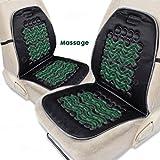 Zone Tech Magnetic Bubble Ultra Comfort Massaging Car Seat Cushion - Set of