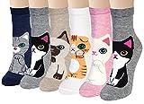 6 Paia Calze Animali da Donna Calzini da Donnacalzini Divertenti Calzini Lunghi in Cotone Animali, Calzini per Cani e Gatti
