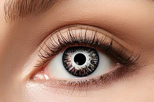 Zoelibat Natürlich Farbige Kontaktlinsen für 12 Monate, Ton84, 2 Stück, BC 8.6 mm / DIA 14.5 mm, Jahreslinsen in Markequalität, orange/braun