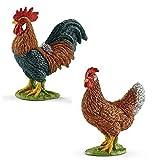 Schleich Farm World - 13825 Hahn & 13826 Henne