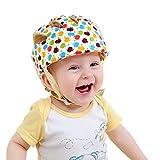 hannah 安全ヘルメット ベビー 乳幼児 ソフト スポンジ 安全 ヘッドガード プロテクター 保護 ケガ 防止 軽量 サイズ調整可 (カラフル)